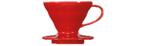 produit torrefaction papillons - Dripper V60 - 4 tasses rouge