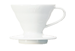 produit torrefaction papillons - Dripper V60 - 4 tasses Blanc