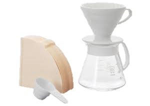 produit torrefaction papillons - Kit V60 Dripper Céramique Blanc 1-4 tasses