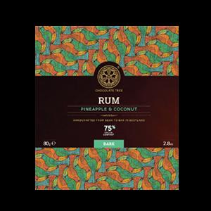 produit torrefaction papillons - Noir Rum Pinapple & Coco 75%