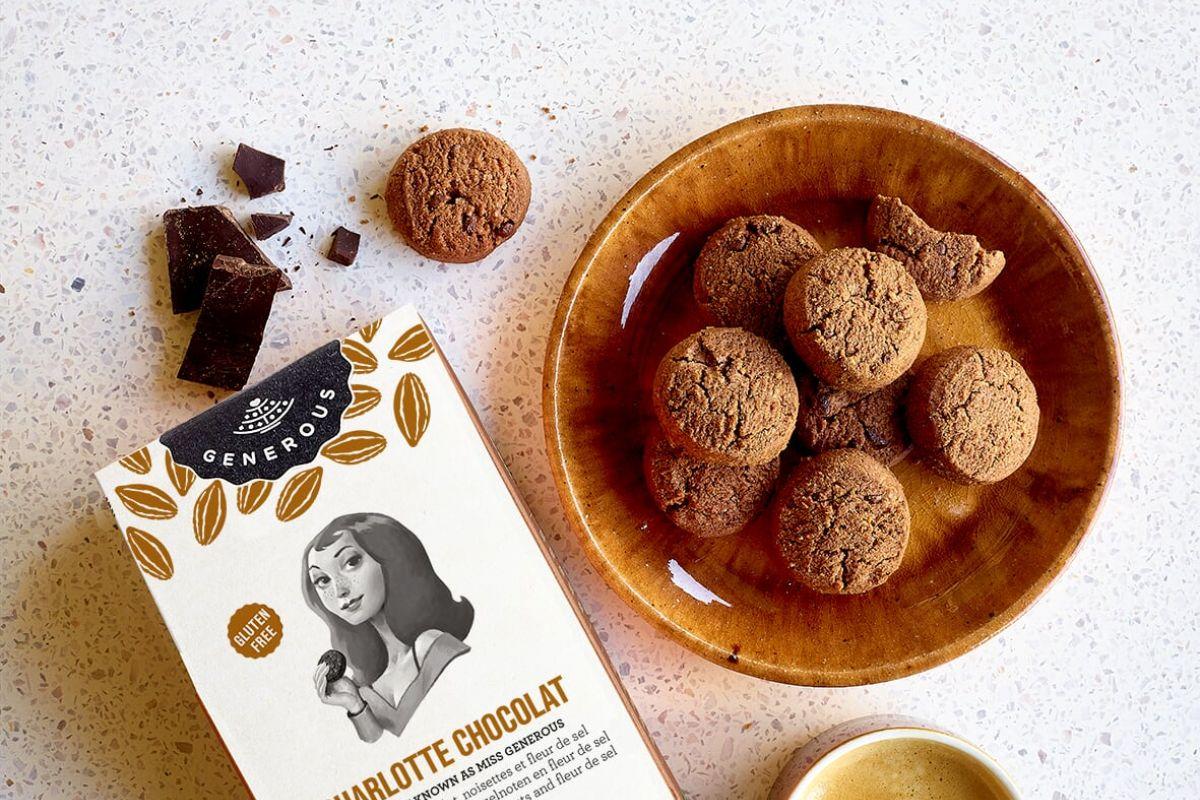 img produit Charlotte Chocolat : Cookies au chocolat, noisettes, et fleur de sel