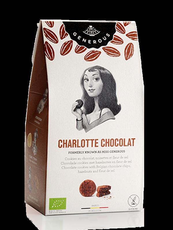 produit torrefaction papillons - Charlotte Chocolat : Cookies au chocolat, noisettes, et fleur de sel